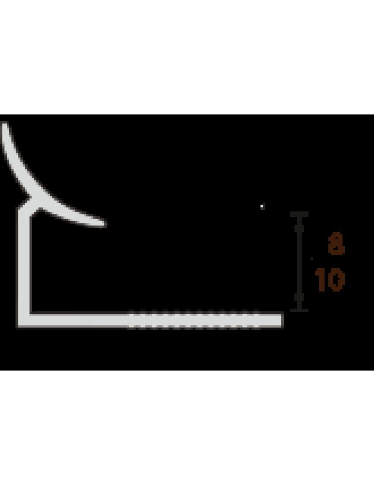 Раскладка внутренняя под плитку, 8мм, 2,5м, Белая