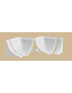 Набор комплектующих для галтели с мягкими краями, белый