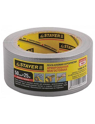 Лента Stayer клейкая, арм.,влагост. 50ммх35м, мет.