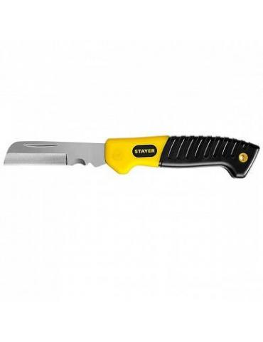 Нож Stayer Profi, SK-R, монтерский, складной, прямое лезвие