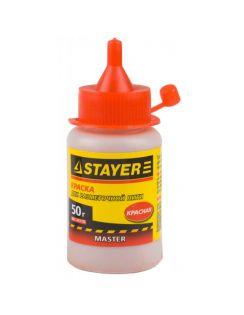 Краска Stayer  для разметочных шнуров, красная50г.
