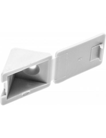 Уголок мебельный с шурупом, 4*15мм, белый