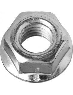 Гайка DIN 6923 с фланцем, М6, 14шт, кл.пр.8, цинк