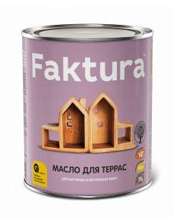 Масло FAKTURA для террас с натуральным воском и тунговым маслом, 0,7л
