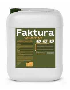 Состав FAKTURA Stop Жук для уничтожения жуков и личинок, биозащита древесины 15 лет, 5л