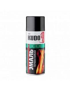 Краска аэрозольная KUDO термостойкая, серебристая, 520 мл