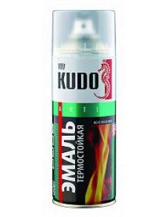 Краска аэрозольная KUDO термостойкая, белая, 520 мл