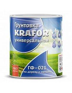 Грунтовка KRAFOR ГФ-021 высокопр. крас-кор, 0,8кг