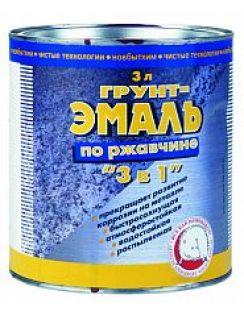 Грунт-эмаль по ржавчине 3в1 Новбытхим, белая, 3л