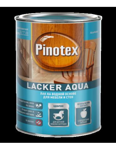 Лак PINOTEX Lacker aqua 10 на водной основе для мебели и стен, д/внутренних работ, матовый, 1л