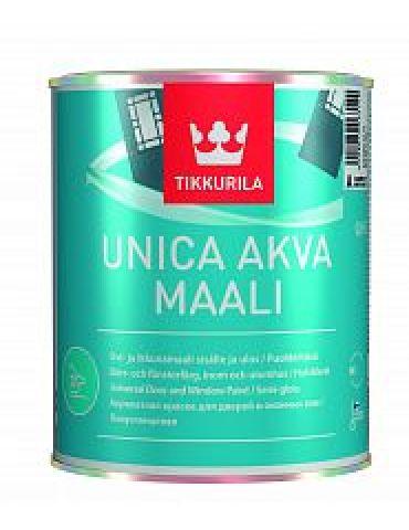 Краска Tikkurila Уника Аква для окон и дверей, полуглянец, 0,9л