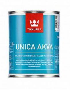 Краска Tikkurila Уника Аква для окон и дверей (база С), полуглянец, 0,9л