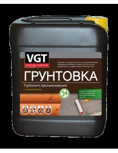 Грунтовка VGT ВД-АК-0301 глубокого проникновения с антисептиком, 5кг