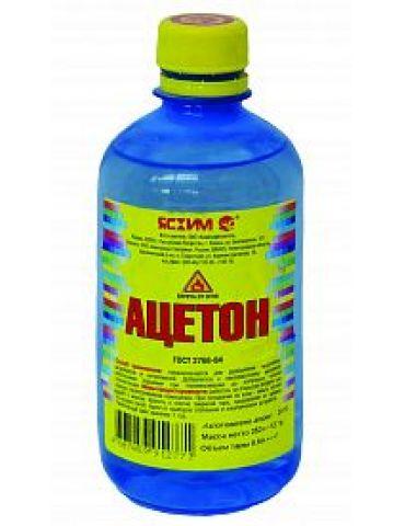 Ацетон 0,5л, пластик