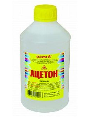 Ацетон 1,0л, пластик бут.