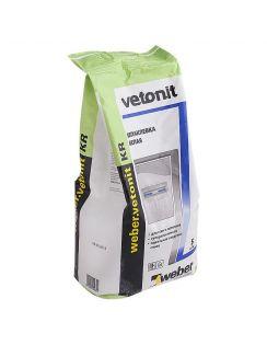 Шпатлевка WEBER VETONIT KR финишная, органическая для сухих помещений, белая, 5кг